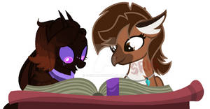 Let's read together.:COLLAB:.-Coffeeteal n Shelly-