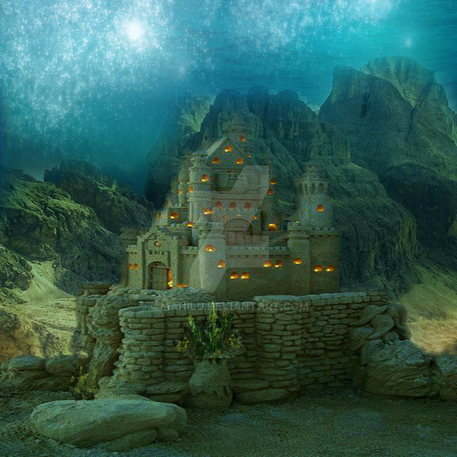 Castle Underwater by manilu on DeviantArt