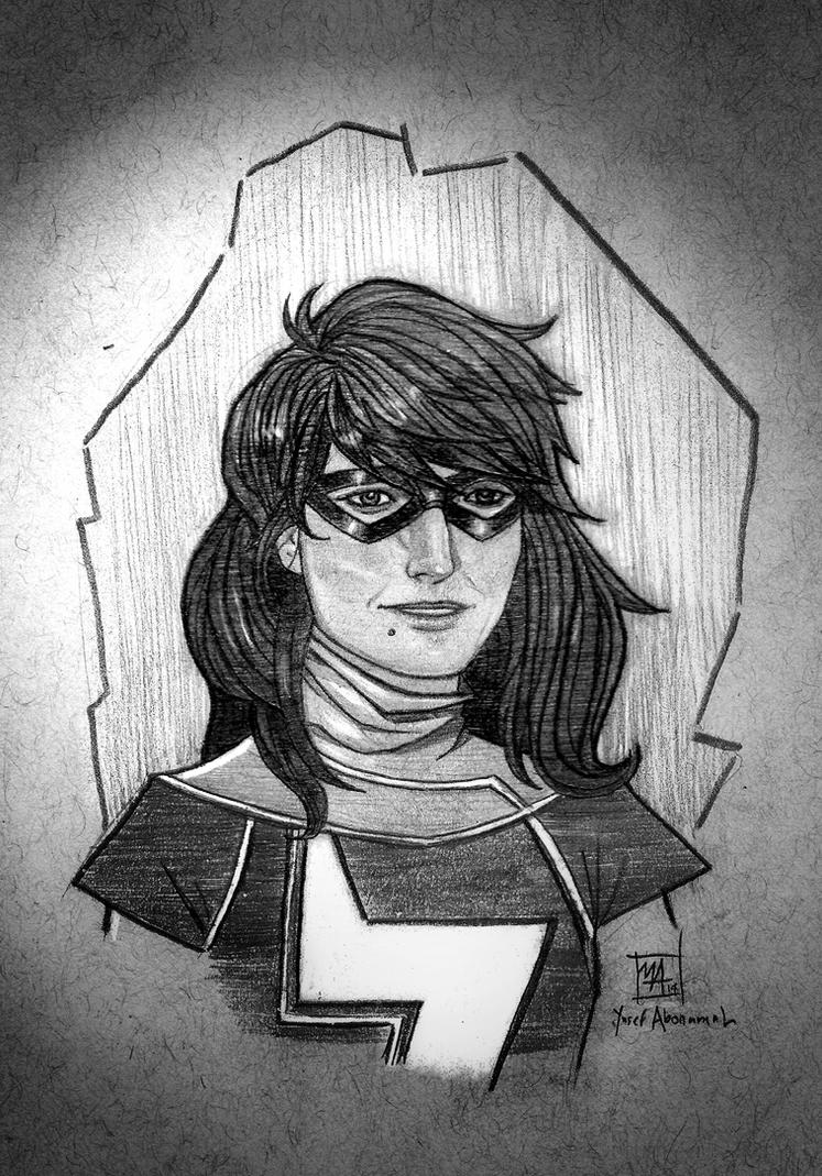 Ms. Marvel by yusef-abonamah