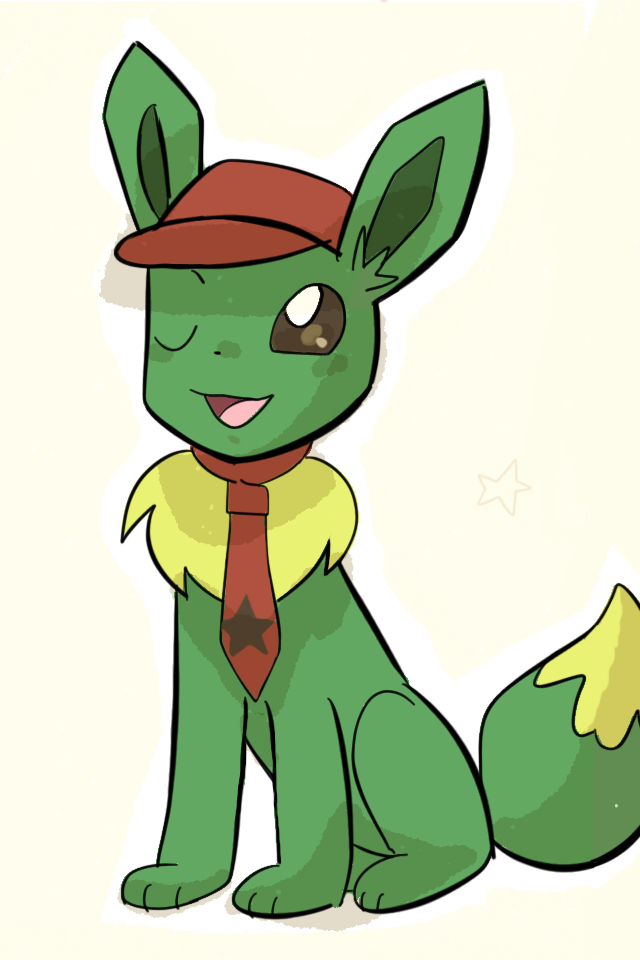 Green Eevee by AnySketches