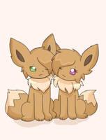Eevee siblings by AnySketches