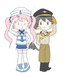 A sailor and a pilot by AnySketches