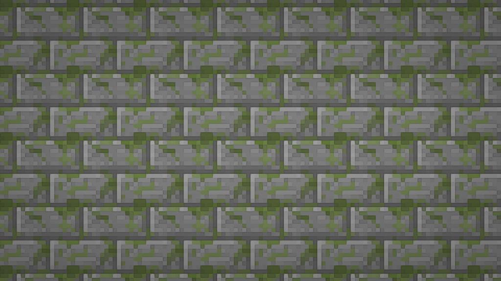 Minecraft Moss Stone Brick Minecraft Stone Wallpaper
