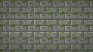 Minecraft: Moss Stone Brick Textured Wallpaper