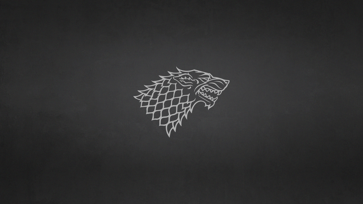 Game of thrones house stark minimalist wallpaper by for Minimalist house wallpaper