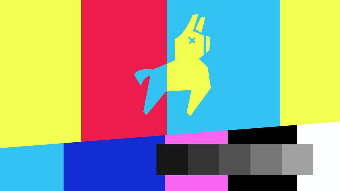 fortnite llama tv warning desktop wallpaper by elbarnzo - desktop fortnite wallpaper