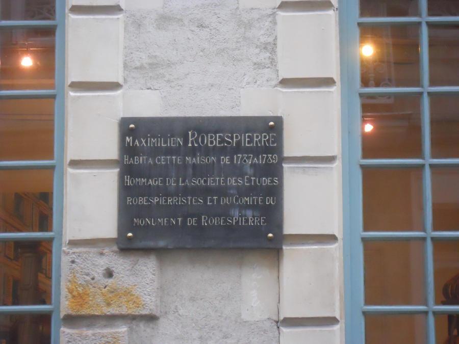 Plaque maison de robespierre by naoki de robespierre on for Plaque nom de maison
