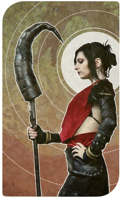 Morrigan tarot card by IssssE