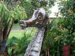 steel seahorse detail