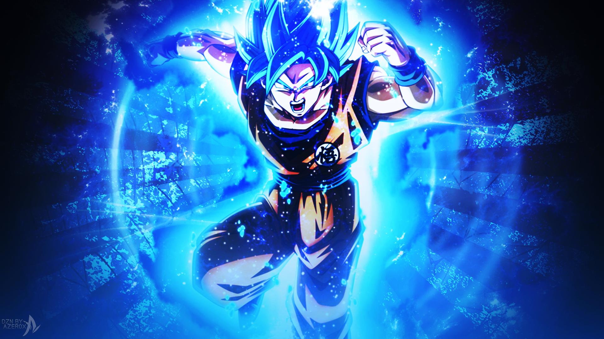 GOKU BLUE (DRAGON BALL SUPER) by TheAZER0X on DeviantArt