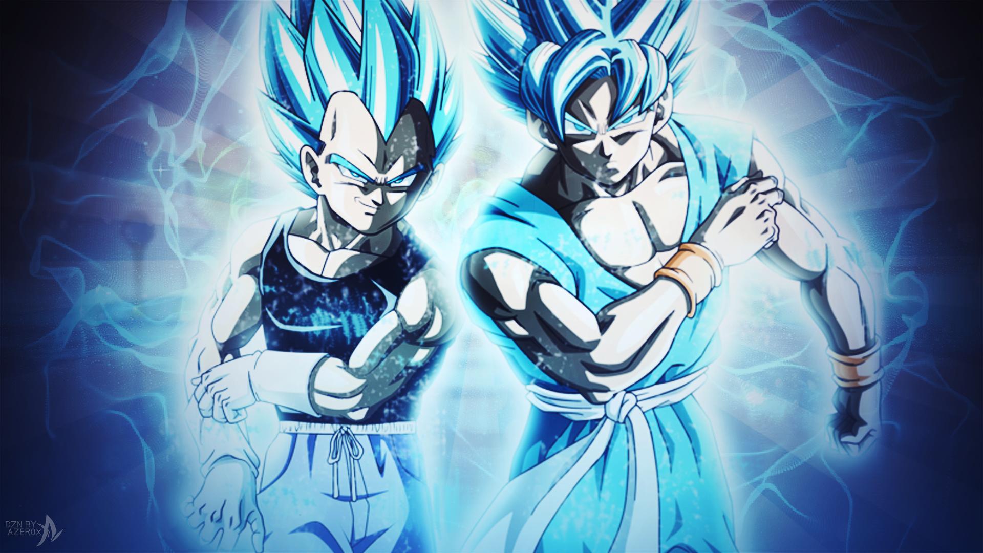 Goku And Vegeta Super Saiyan Blue End Of Z By Azer0xhd On