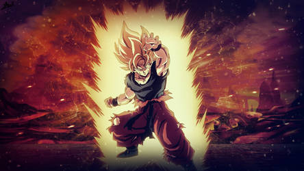 SON GOKU, FIRST SUPER SAIYAN ! by Azer0xHD