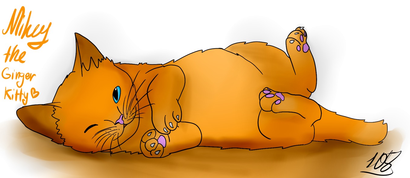 Mikey as a Ginger Kitty by Foziz105