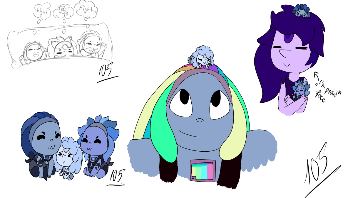 Bismuth and PP's gemlings by Foziz105