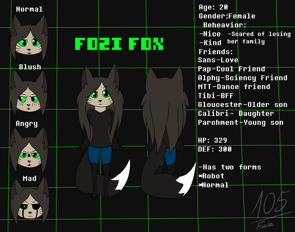 Fozi 2.0 [UnderTale OC] by Foziz105