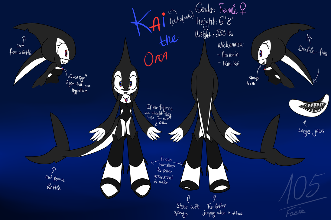Kai the Orca [Sonic OC] by Foziz105