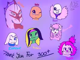 (300+ Watchers Special) Thank you! by Foziz105