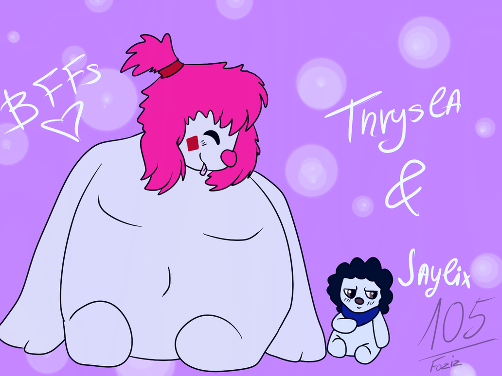 (Art Trade) Thrysla and Jaylix by Foziz105