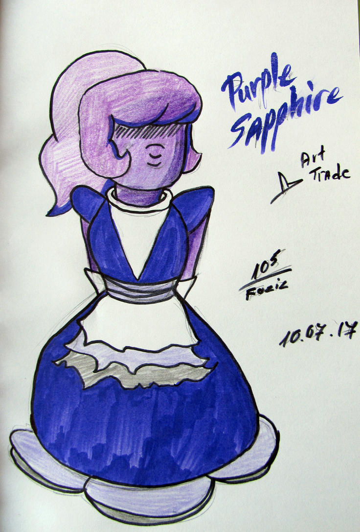 (Art Trade) Purple Sapphire by Foziz105