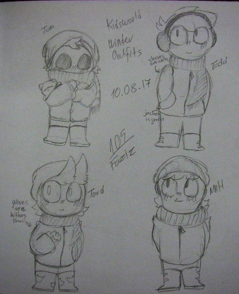 [Kidsworld] Winter Outfits by Foziz105