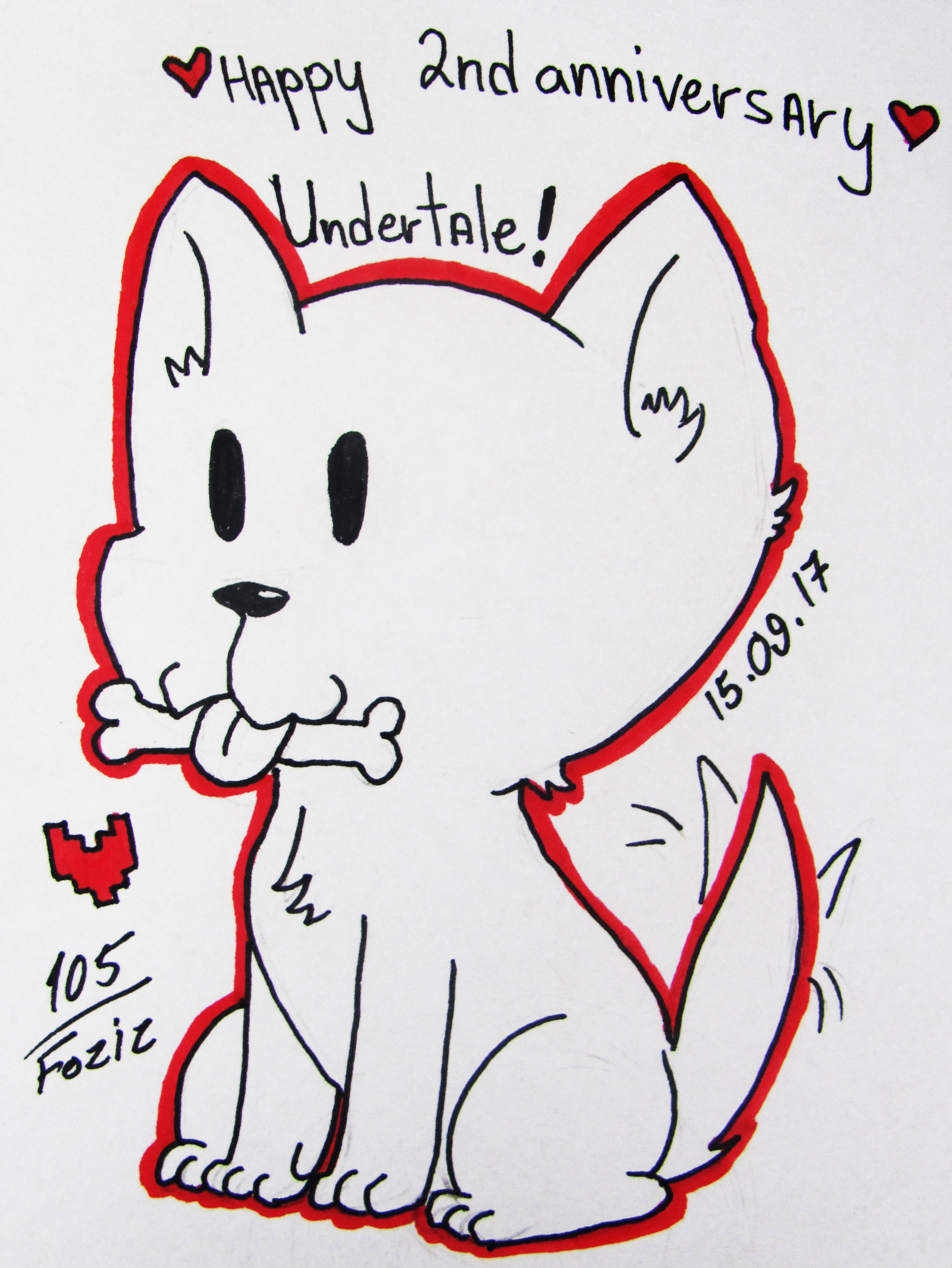 Happy 2nd Anniversary Undertale! by Foziz105