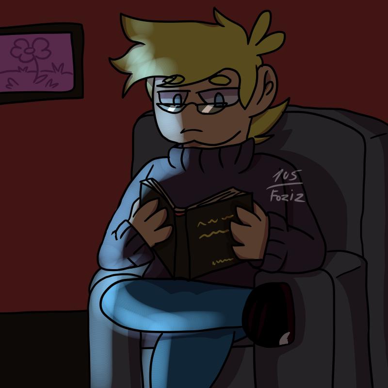 Late at night I read books. by Foziz105