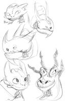 Dragon Doodles by Foziz105