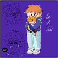 bee and puppycat but its eddsworld by Foziz105