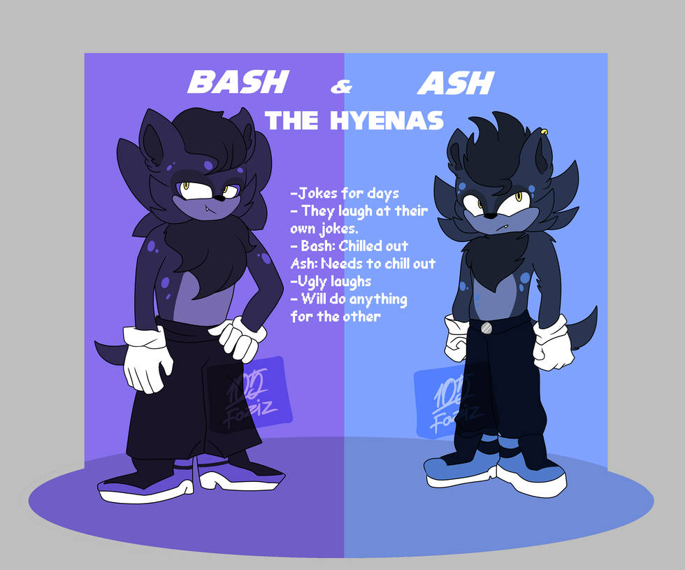 Bash and Ash The Hyenas [Sonic OCs] by Foziz105