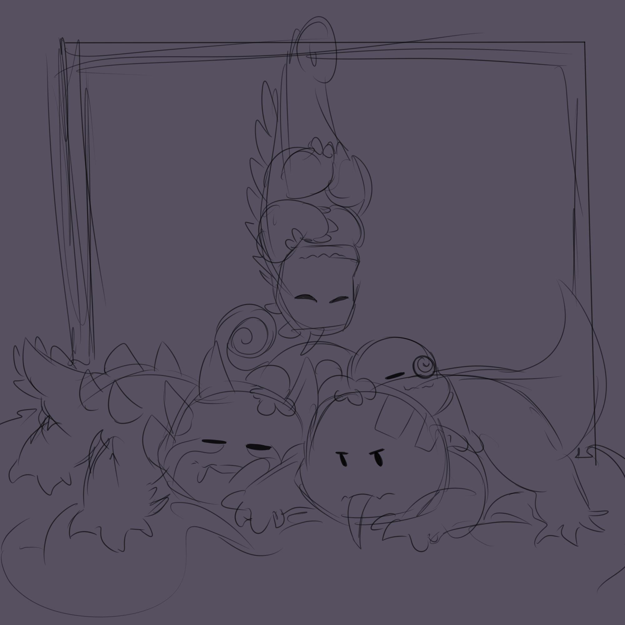 Sleepy Dark Babus [ROTTMNT Doodle] by Foziz105