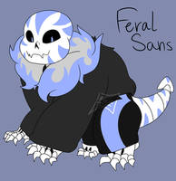 Feral!Sans 2.0 by Foziz105