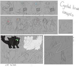 Crystal Lizard Concepts by Foziz105
