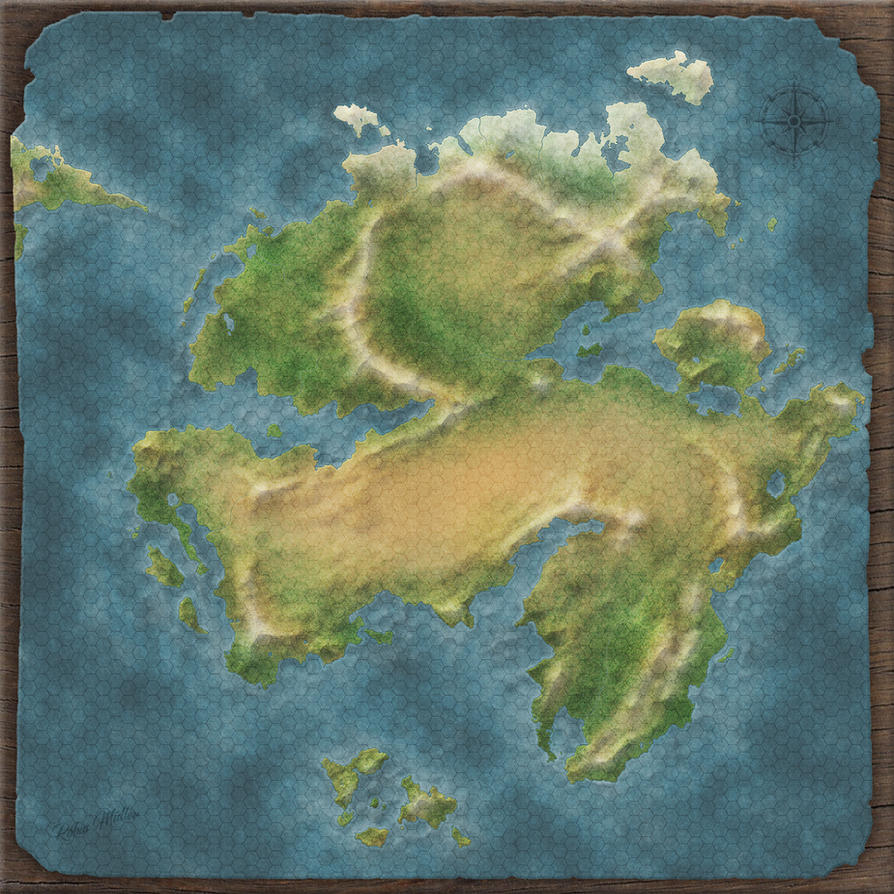 Farolan - another fantasy map by theRapkin