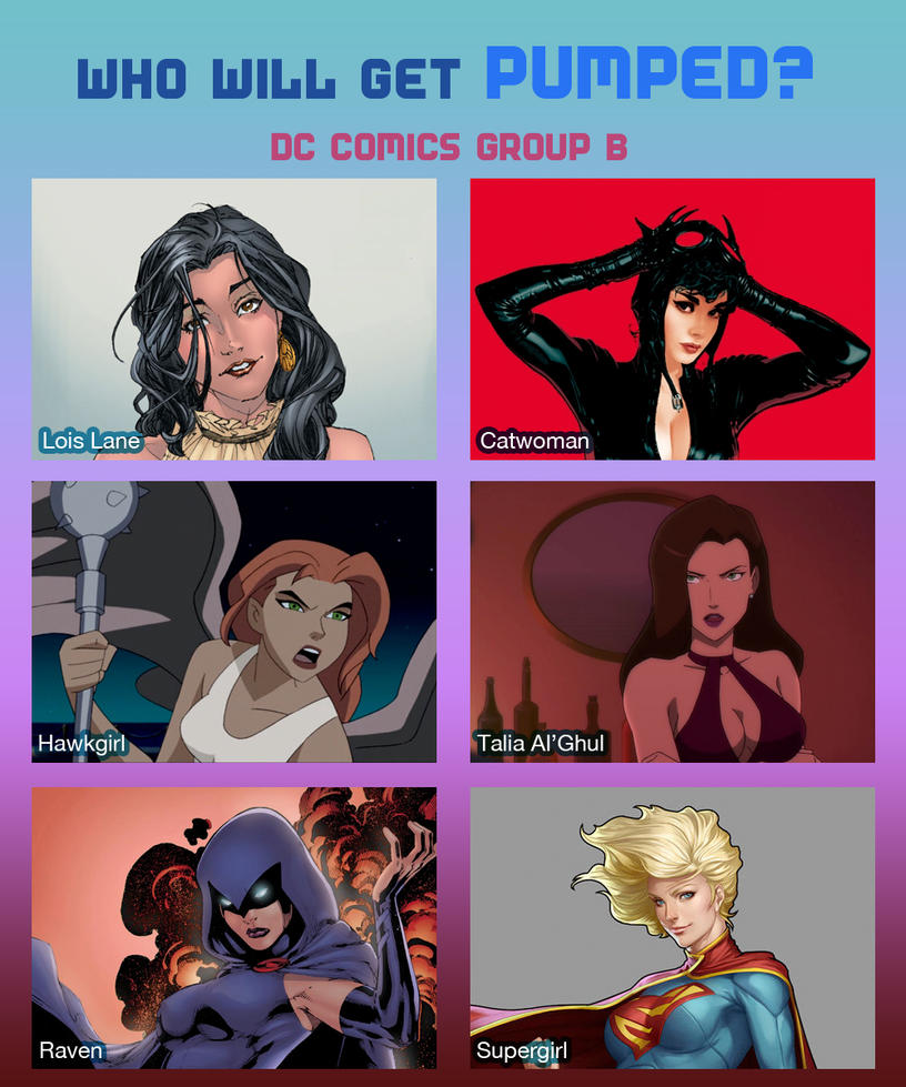 Weekly Rule 34 Poll! DC Comics Group B By MoxyDoxy On