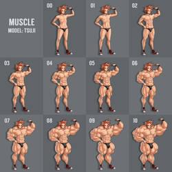 Size Scale: Muscle by MoxyDoxy