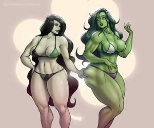 [VOTE] Shego x She-Hulk by MoxyDoxy