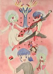 Miraculous Pokemon Master: Lady Ledian by GracefulArt693
