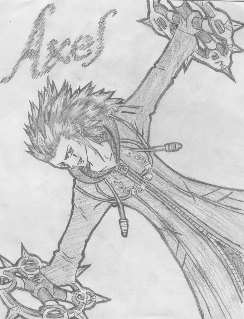 Kingdom Hearts Axel Drawings Images & Pictures - Becuo