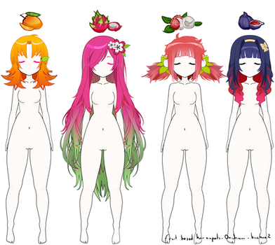 Kisekae Fruit Inspired hair exports ! #2