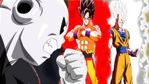 Goku And Gohan Vs Jiren