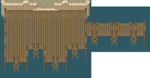 Dock tileset example by ReidYaro