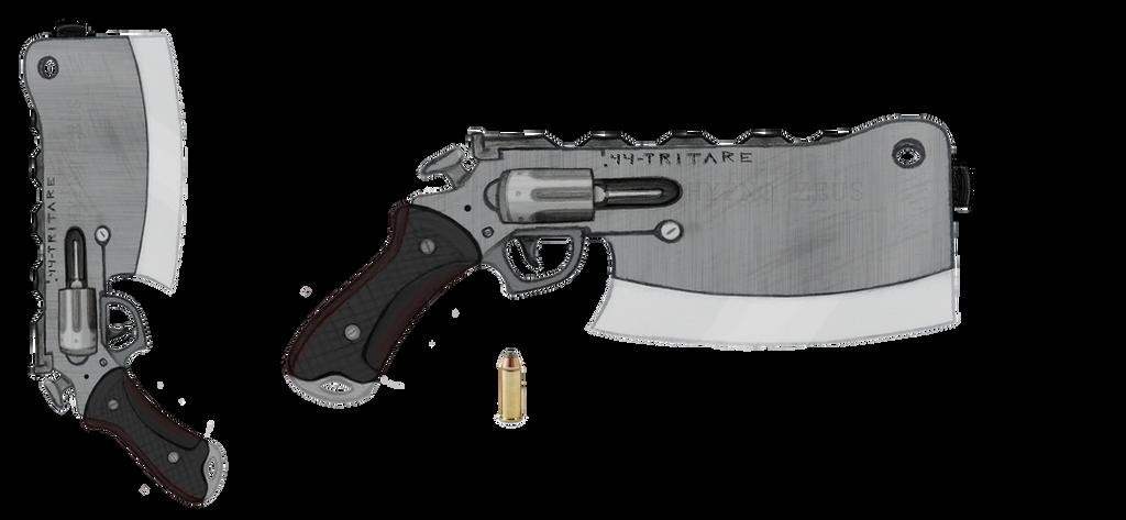 .44 Revolver+Cleaver ''Tritare'' by HypnoZeus