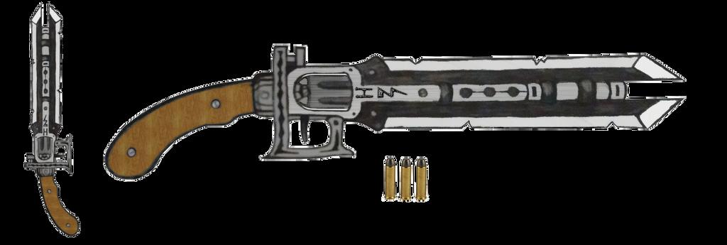 .44 Gunblade ''Xiphos'' by HypnoZeus