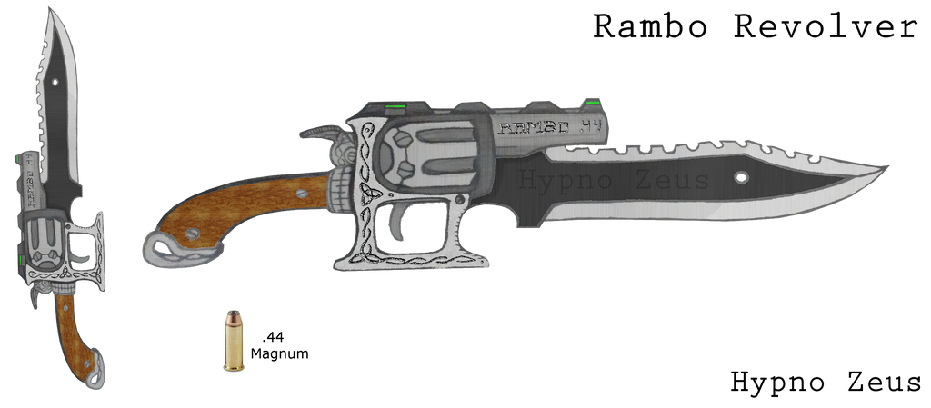 Rambo Revolver by HypnoZeus