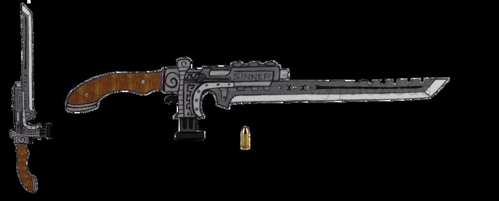 9mm Gunblade ''Sinner'' V1 by HypnoZeus