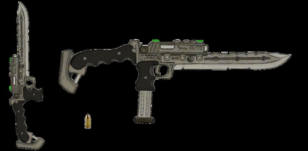9mm Gunblade ''Sinner'' V2 by HypnoZeus