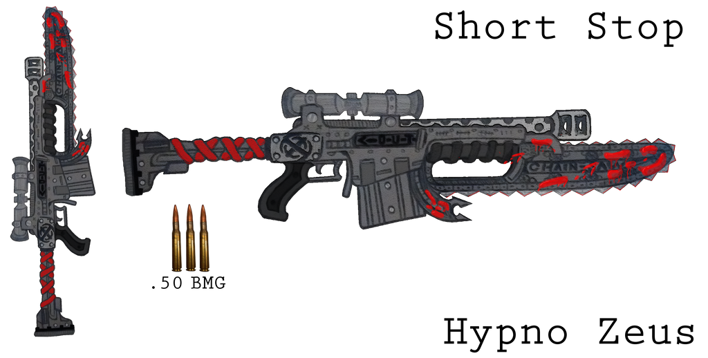 .50 Cal + Chainsaw ''ShortStop'' by HypnoZeus