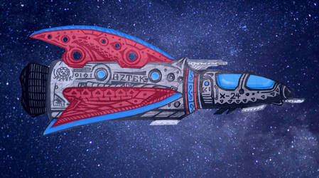 Aztek Attack Ship by HypnoZeus