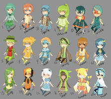 Adopts:: PKMN starters CLOSED by Pandastrophic