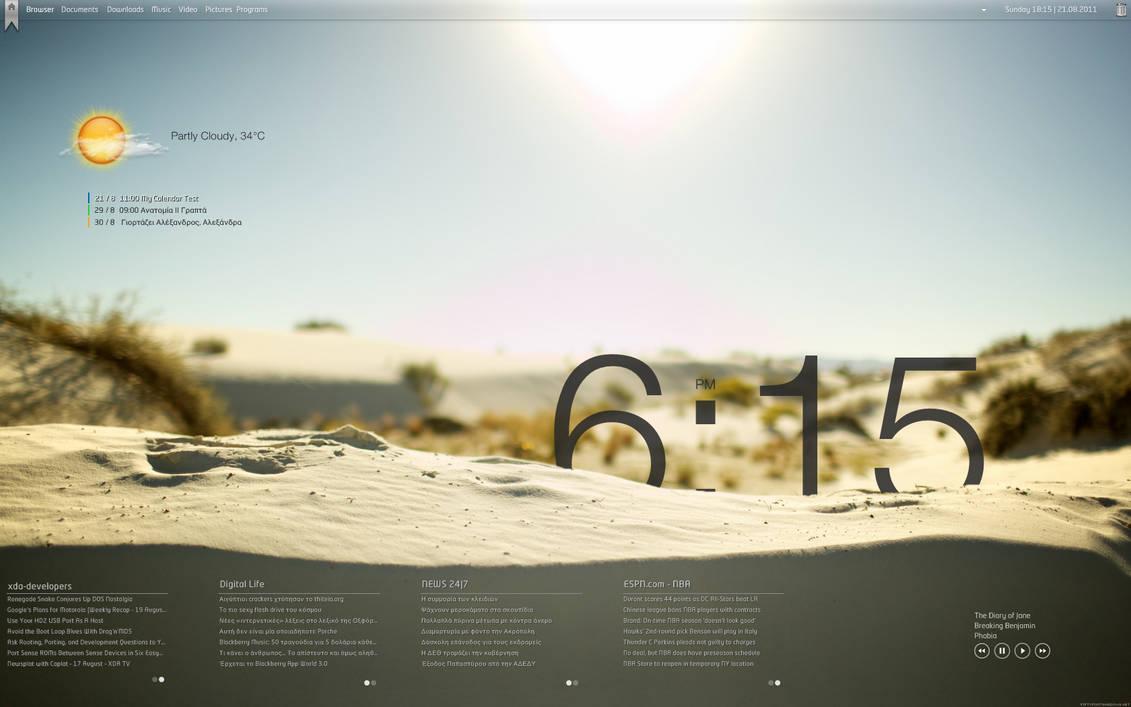 Sun + Sand - RainMeter Desktop by KreDoc